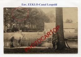 Bei EEKLO-Leopold Kanal-CARTE PHOTO Allemande-GUERRE 14-18-1WK-BELGIEN-Flandern - Eeklo