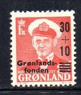 APR189 - GROENLANDIA 1959 , Unificato N. 33  ***    (2380A) - Isole Faroer