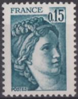 N° 1966 C - X X - Sans Phosphore Gomme Brillante - ( F 704 ) - 1977-81 Sabine Of Gandon