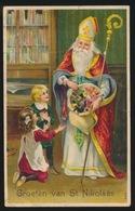 GROETEN VAN ST.NIKOLAAS  RELIEF  GAUFRE  88!!!!!!!  KAART IS GEKREUKT - Nikolaus