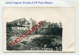Cartes NON SITUEES-ARRET ASPERN Ferme-2x CARTES PHOTOS Allemandes-GUERRE 14-18-1WK-BELGIEN-Flandern-??? - Belgique