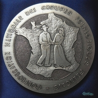 Médaille Bronze Confédération Nationale Des Groupes Folkloriques Français 50è Anniversaire 1935/1985 - Folklore - Non Classés