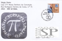 Portugal 2018 Dia PI Escola Secundária Dom Manuel Martins Setúbal Física Ciência Matemática Math Mathematik Science - Poststempel (Marcophilie)