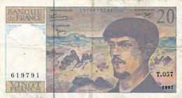 "N. 1 Banconota - BANQE  DE  FRANCE  -  FRANCHI 20  ""DEBUSSY"" -  Anno 1997 - 10 F 1941-1949 ''Mineur''"