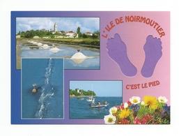 85 - Carte à Trou,  ILE  DE  NOIRMOUTIER  (pied) - Ile De Noirmoutier