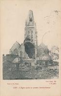 CPA - Belgique - Loo - L'Eglise Après Un Premier Bombardement - Lo-Reninge