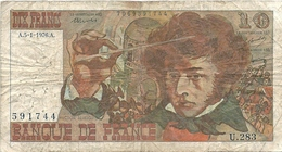 "N. 1 Banconota - BANQE  DE  FRANCE  -  FRANCHI 10  "" BOUCHET  TRONCHE "" -  Anno 1976 - 10 F 1941-1949 ''Mineur''"