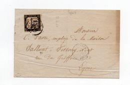 !!! TAXE CARREE N°3B 15C TYPO SUR LETTRE DU 28/4/1864 (1ERE DATE CONNUE) - Taxes