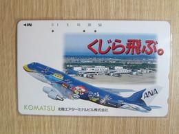 Japan Phonecard,110-007 ANA Airlines,Komatsu,used - Airplanes