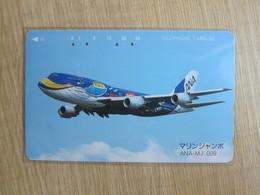 Japan Phonecard,110-011 ANA Airlines,MJ-009,used - Airplanes