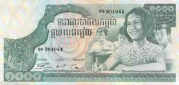1000 Mille Riels Banknote Kambodscha UNC - Kambodscha