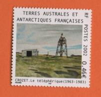 WP12 TAAF Terres Australes Et Antarctique FSAT ** 2002 Crozet Téléphérique - French Southern And Antarctic Territories (TAAF)