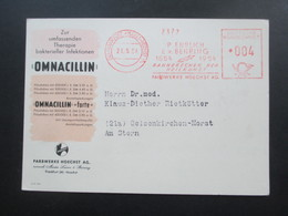 1954 Werbepostkarte Omnacillin Farbwerke Hoechst AG. Omnadin / Penicillin Dekorative Karte!! - Werbepostkarten