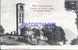 113456 ITALY PEGLIO SOPRA GRAVEDONA CHURCH SS. EUSEBIO & VITTORE POSTAL POSTCARD - Non Classés