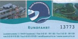 Mettlach Schiffsfahrkarte Rundfahrt Saarschleife Saartalbahn - Boats