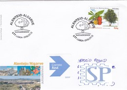 Portugal 2019 FDC Algarve Alentejo Árvores Mediterrâneo Medronheiro Medronho EuroMed Postal Mediterranean Trees Arbres - Árboles