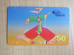 Chip Phonecard,painting, Used With Scratch - Cabo Verde