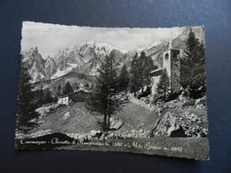 19941) VALLE D'AOSTA PROVINCIA COURMAYEUR CHIESETTA DI PLAMPINCIEUX VIAGGIATA 1951 - Altre Città