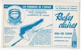 BUVARD ROCHES CLAIRES N°4 LES PIONNIERS DE L'ESPACE SCOTT CARPENTER - Alimentare