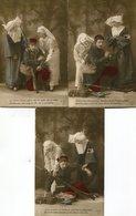 Série De 3 CPA - Blessé Et Infirmières - Guerre 1914-18