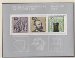 Germany 1984 XIX Weltpostkongress UPU Hamburg Souvenir Sheet MNH/**   (H38) - UPU (Union Postale Universelle)