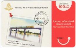 THAILAND E-350 Prepaid Happy - Traffic, Train, Railway Bridge - Used - Thaïland
