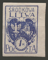 Lithuania / Litwa Srodkowa / 1920 / Mi: 2B / MH - Lituanie