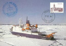 "RSA- Kapstadt 1986: Postkarte: PFS ""Polarstern"" Auf Kurs ""Antarktis""#H32 - Missionen"