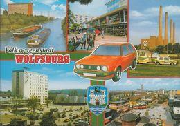 D-38440 Wolfsburg - Volkswagenstadt - Alte Ansichten - Lastkahn - Fabrik - VW Golf - Gruss Aus.../ Grüsse Aus...