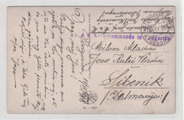 Montenegro WWI From Russian Destroyed Village In Russisch-Polen Postcard 1918 KuK Kreiskommando In Podgorica Feldpost - Montenegro
