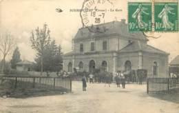 23 - BOURGANEUF - La Gare En 1926 Animée - Bourganeuf
