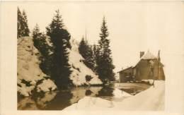 25 - LA GAUFRE Près LE FRAMBOURG (Doubs) - Carte Photo Vers 1910 En Hiver - France