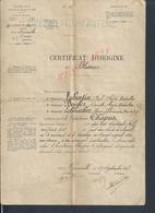 MILITARIA CERTIFICAT D ORIGINE BLESSURE MILITAIRE CAPITAINE CHAPUS CHUTE A CHEVAL 2e Rg Inf FAIT À GRANVILLE 1903 TAMPON - Documents