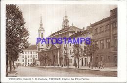 113483 POLAND WARSZAWA CHURCH PERES PAULINS POSTAL POSTCARD - Polonia