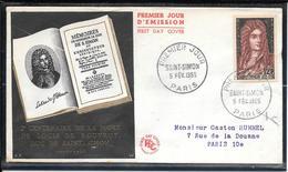 FDC 1955 - 1008  Bicentenaire De La Mort De Louis De Rouvroy, Duc De Saint-Simon - FDC