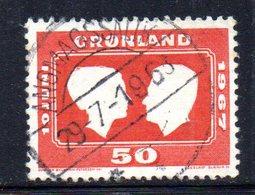 APR479 - GROENLANDIA 1967 , Unificato Serie N. 59  Usata    (2380A) - Isole Faroer