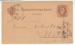 Austria Slovenia Postal Stationery Postcard Dopisnica Travelled 1880 Möttling Metlika To Wien B190610 - Slovenia