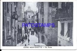 113490 ITALY CAIRO MONTENOTTE SAVONA AVENUE ROMA POSTAL POSTCARD - Italie