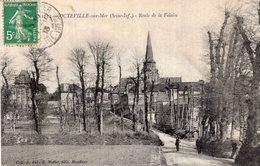 2995 Cpa  Octeville Sur Mer - Route De La Falaise - France