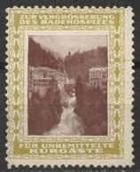 WATERFALL Bath Spa - AUSTRIA Bad Gastein Hotel Straubinger Hospital - Charity LABEL VIGNETTE CINDERELLA - Hydrotherapy