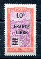 Madagascar - Surcharge France Libre - Maury 268 - Neuf Sans Charnière - T 882 - Madagascar (1889-1960)