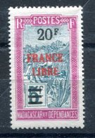 Madagascar - Surcharge France Libre - Maury 270 - Neuf Sans Charnière - T 882 - Madagascar (1889-1960)