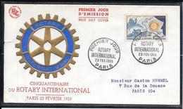 FDC 1955 - 1009 Cinquantenaire Du Rotary International - FDC