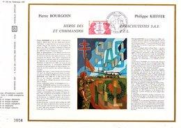 DOCUMENT OFFSET FDC 1973 COMMANDOS ET SAS - BOURGOIN ET KIEFFER - FDC
