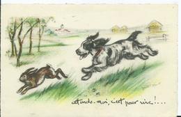CARTE FANTAISIE - Illustration GERMAINE BOURET - Attend Moi, C'est Pour Rire!... - Bouret, Germaine