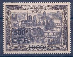 REUNION  - PA  51  1000F PARIS SURCHARGE - N** LUXE MNH SUPERBE SIGNE CALVES COTE 420 EUR PORT RECOMMANDÉ OFFERT - Aéreo