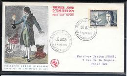 FDC 1955 - 1012  Inventeurs S Célèbres: Philippe Le Bon - FDC