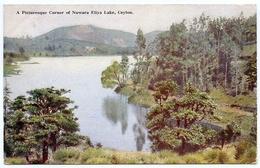CEYLON : A PICTURESQUE CORNER OF NUWARA ELIYA LAKE / GV - CEYLON STAMP / ADDRESS - MITCHAM, SURREY - Sri Lanka (Ceylon)