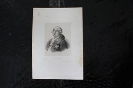 DH / Louis XVI, Né Le 23 Août 1754 à Versailles Et Mort Guillotiné Le 21 Janvier 1793 à Paris  / 16x24 Cm - Historische Dokumente