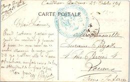 Militaire - 19 ème Corps D'armée - Hôpital N°4 Bordeaux - Année 1914 - Médecin Chef - Cachet - Marcophilie (Lettres)
